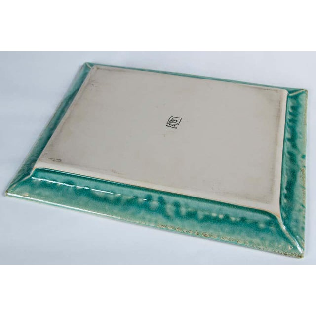 Vintage Crackle-Glaze Ceramic Tray, by Jars, France, Mid-20th Century For Sale - Image 9 of 11