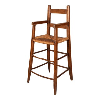 19th Century Country French Child's High Chair For Sale