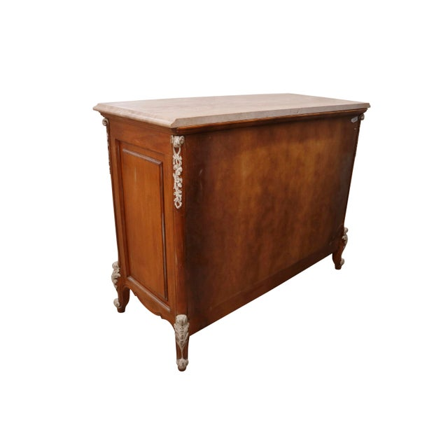 1970s Carved French Dresser With German Marble Top For Sale - Image 5 of 6