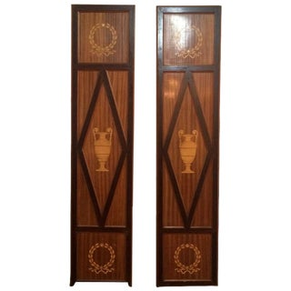 Antique 19th Century Pair of Elaborately Inlaid Decorative Panels Doors For Sale