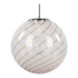 1970s Murano Glass Globe Pendant by Venini For Sale