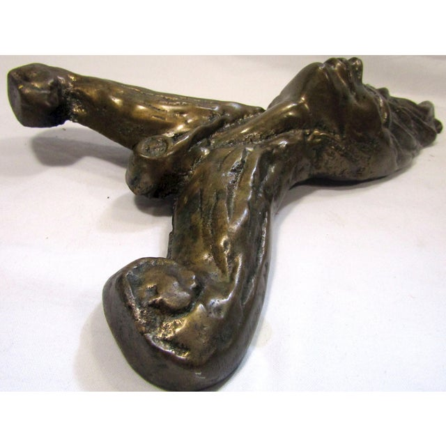 Victorian Antique Fire Dog Chenet Figural Water Nymph Fireplace Andirons - a Pair For Sale - Image 3 of 10