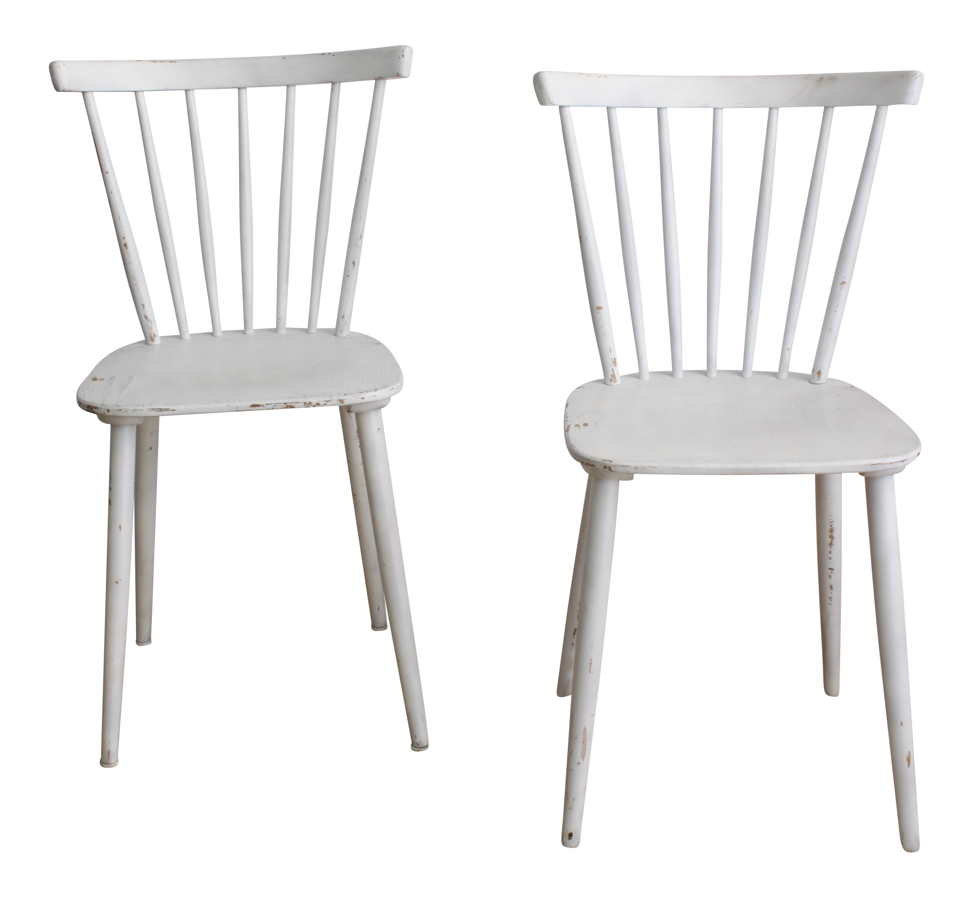 Vintage White Salt Chairs   Set Of 2