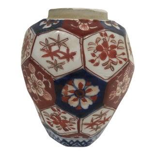 Japanese Imari Porcelain Hexagonal Vase For Sale