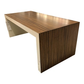 Zebrawood Contemporary Cocktail Table