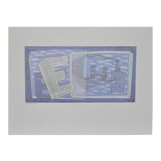 "Herbert Bayer (Bauhaus) ""Tender Picture E"" Offset Lithograph C.1965 For Sale"