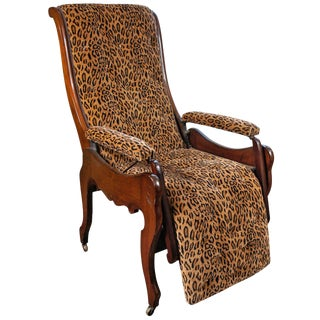 Mahogany Reclining Chair, Circa 1850 For Sale