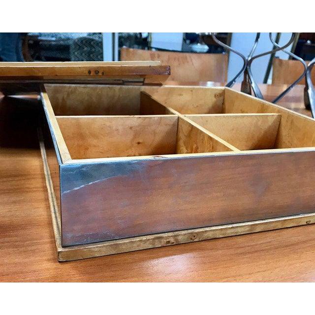 Birch Tommaso Barbi 1960 Jewelry Box in Birch For Sale - Image 7 of 8