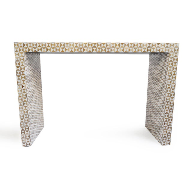 Inlay Modern Geometric Console For Sale In Los Angeles - Image 6 of 6