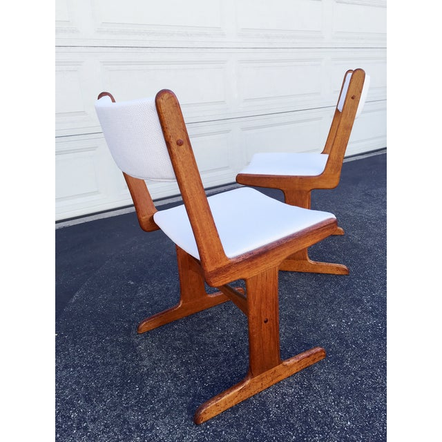 Mid-Century Danish T-Base Chairs - A Pair - Image 3 of 7