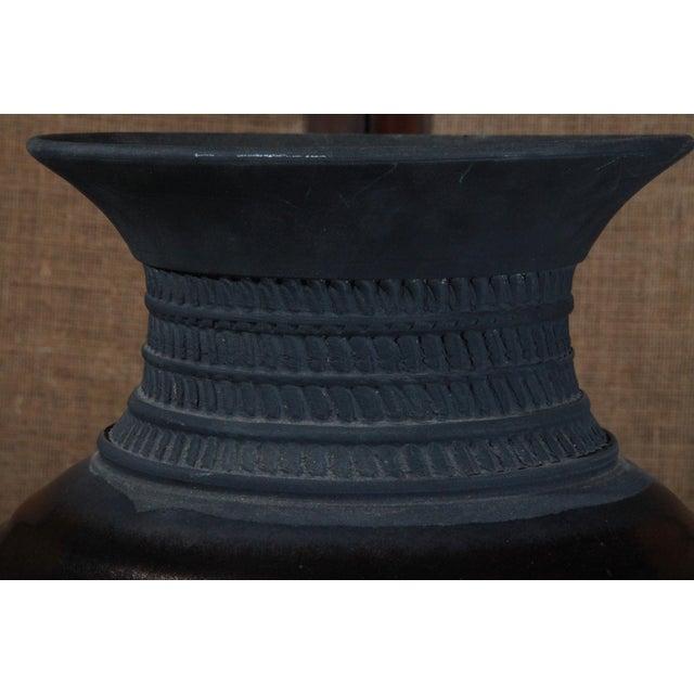 Large Sebastiano Maglio Haeger Black Pottery Vase - Image 5 of 7