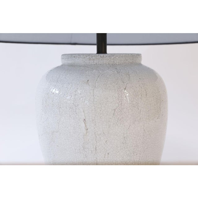 2010s Two Custom Lamps in Crackle Glaze For Sale - Image 5 of 8