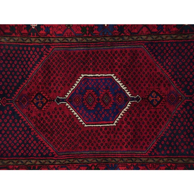 Vintage Persian rug featuring a beautiful geometric-medallion design. 100% handmade, wool pile. Excellent condition, ready...