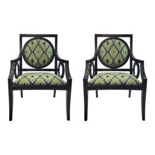 Currey & Co. Flynn Chairs Pair For Sale