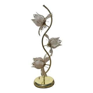 1980's Lotus Flower Lamp For Sale