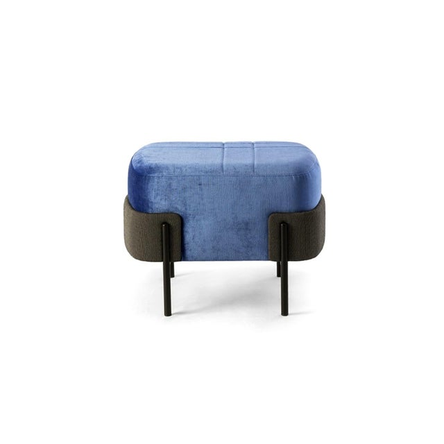 Italian 1572 Pouf by Marco Zito, Bross Italy For Sale - Image 3 of 3