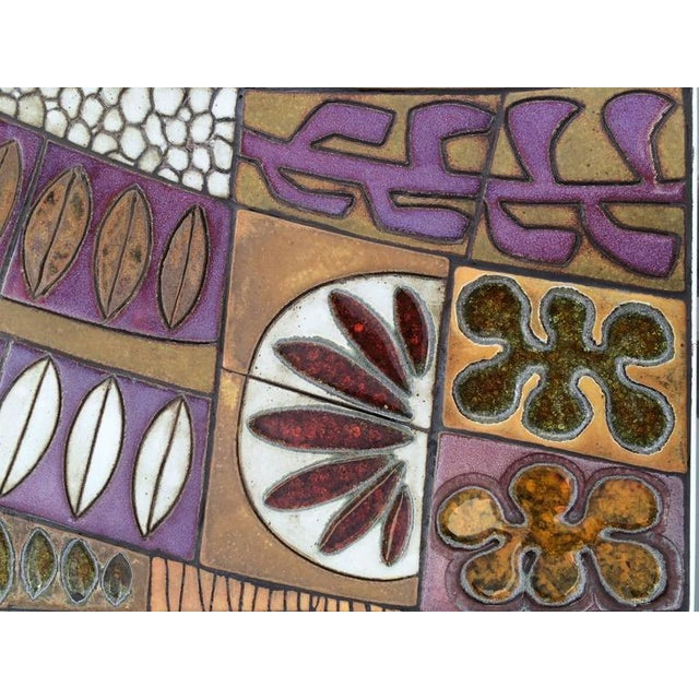 Studio Ceramic Tile Top Table by Brent Bennett For Sale In Palm Springs - Image 6 of 10