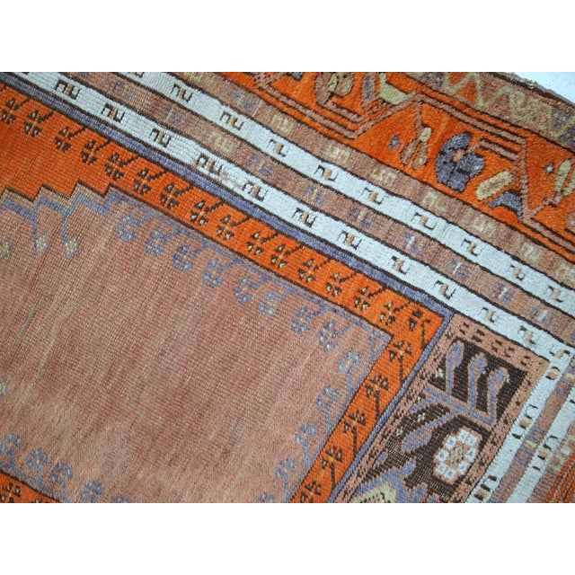 1940s Hand Made Antique Turkish Anatolian Prayer Rug - 3′3″ × 4′7″ For Sale - Image 4 of 10