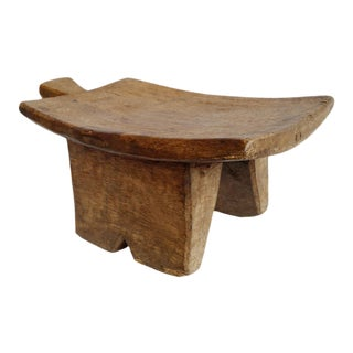Vintage Wood Lobi Stool For Sale