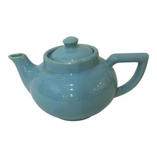 Vintage Small Light Green Ceramic Teapot For Sale