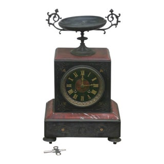 Antique Marble Tiffany & Company Mantle Clock For Sale