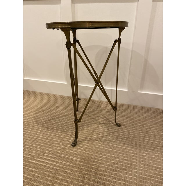 Metal 1990s Vintage Neoclassical Iron and Granite Side Table For Sale - Image 7 of 12