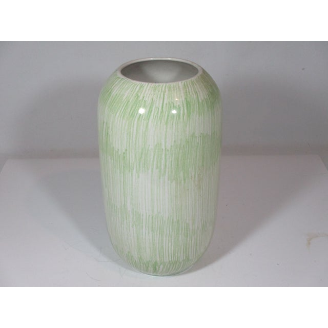 1960s Vintage Italian Hand Painted Vase For Sale - Image 5 of 8