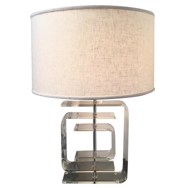 Vintage Lucite Lamp - Image 1 of 8