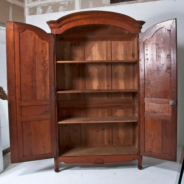 Late 19th Century 18th Century french Louis XVI Walnut Chateau Armoire For Sale - Image 5 of 9