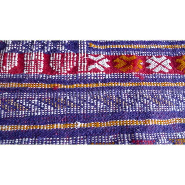 Multi-Colored Hand Woven Moroccan Rug For Sale - Image 7 of 7