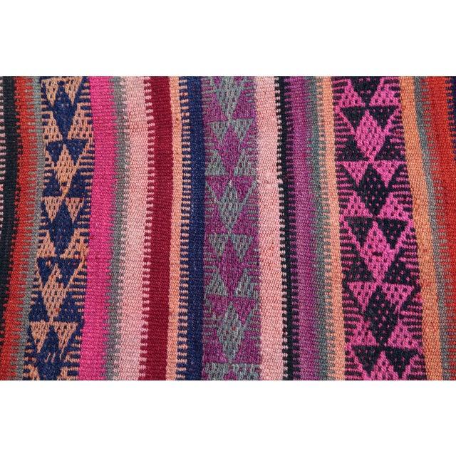 Colorful Striped Cicim Kilim -5' X 1' 5'' Kilim - Image 6 of 11