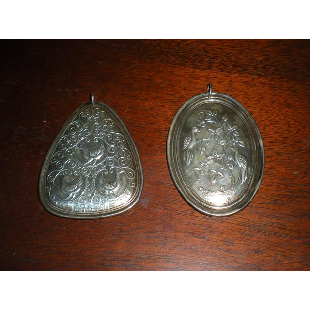 1970s Vintage Towle Sterling Medallions - a Pair For Sale - Image 5 of 6