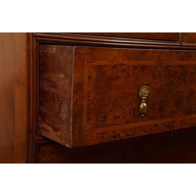 William & Mary Style Burled Yew Linen Press Cabinet For Sale In New York - Image 6 of 8