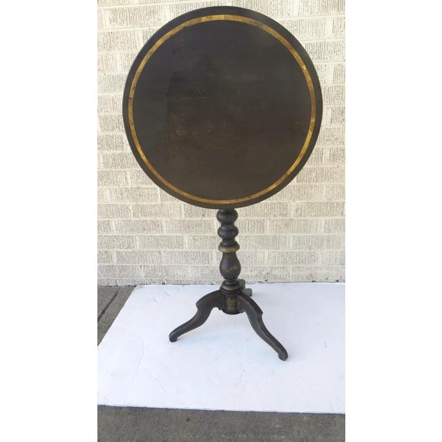 Mid 19th Century English Painted Gilt Tilt Top Table C 1860 Side Table For Sale - Image 5 of 7