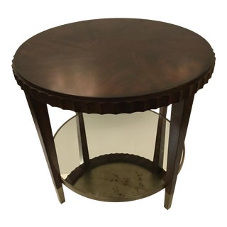 Organic Modern Catch a Glimpse Wood and Mirror End Table For Sale