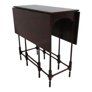 Vintage Baker Furniture Historic Charleston Drop Leaf Gateleg Mahogany Side End Table For Sale