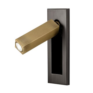 Led Black Bronze With English Brass Docking Wall Light For Sale