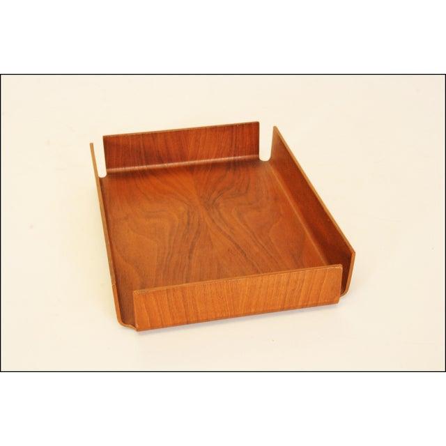Danish Modern Teak Desk Tray - Image 7 of 11
