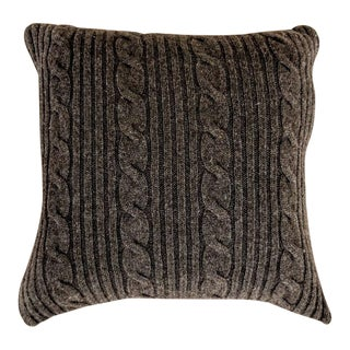 Cashmere Pillow Cover and Insert For Sale