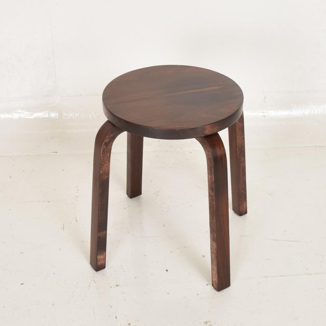 Wood Mid Century Danish Modern, Rare Rosewood Stool by Alvar Aalto for Artek For Sale - Image 7 of 7