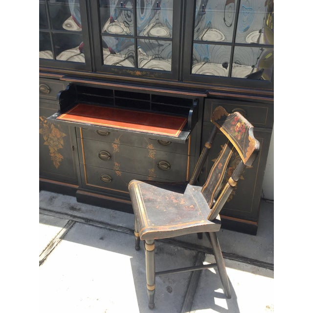 Brown 19th Century Hitchcock Style Painted Chairs - a Pair For Sale - Image 8 of 9