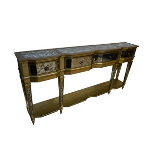 Traditional Hooker FurnitureThe Sanctuary Mirror & Gold Console Table For Sale