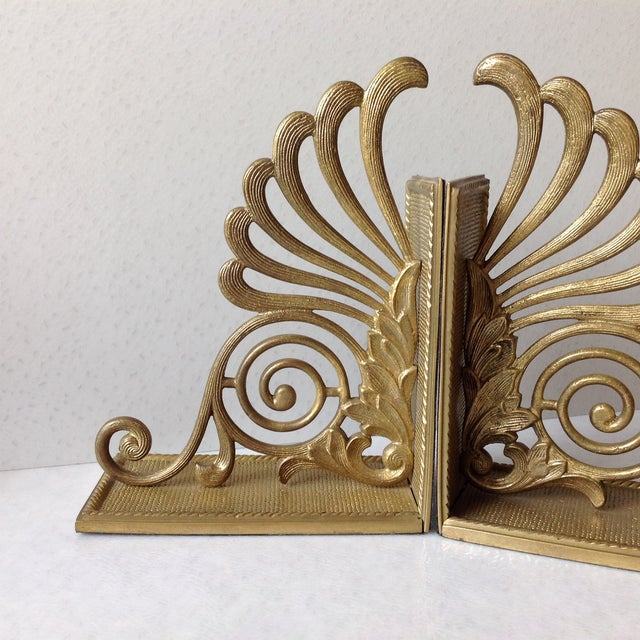 Antique Brass Radius Bookends - A Pair - Image 3 of 11