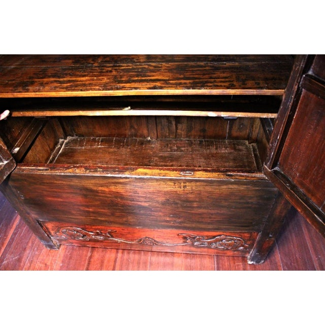 Early Chinese Armoire Lacquer Cabinet For Sale In New York - Image 6 of 9