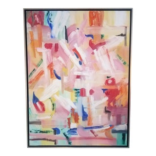 """Modern """"Bright Idea"""" Painting Signed by Christine Frisbee For Sale"""
