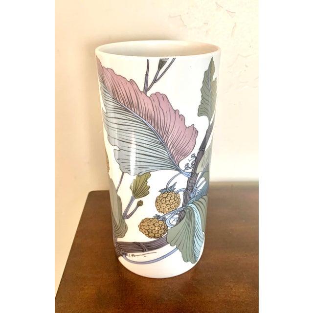 Rosenthal Germany Studio Line Large Gilt Botanical Vase For Sale - Image 10 of 10