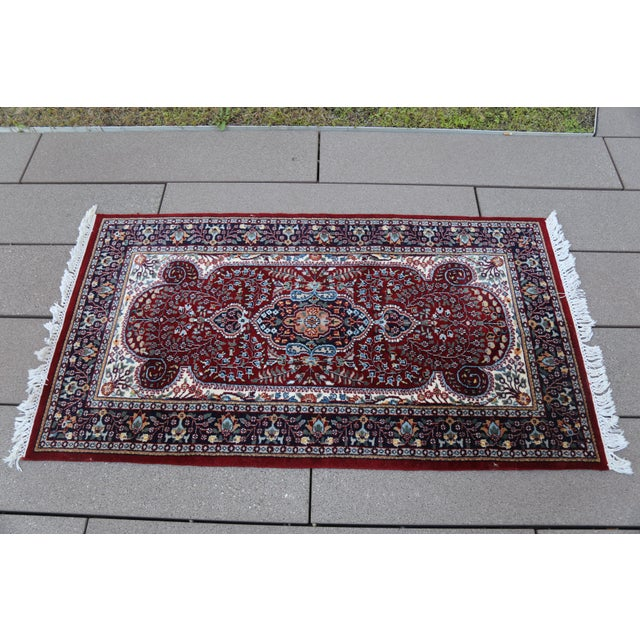 Hand Knotted Kerman Rug - 3′ × 5′11″ For Sale In New York - Image 6 of 7