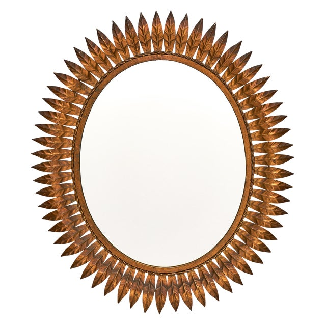 Spanish Tole Sunburst Mirror For Sale