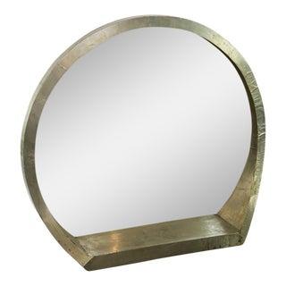 Mid-Century Modern Round Mantle Mirror