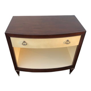 Caracole Nightstand W/ 1 Leather Wrapped Drawer For Sale